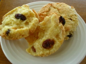 Allergy free scone with sultanas