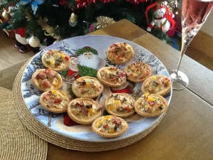 Allergy free creamy ham and mushroom mini pies