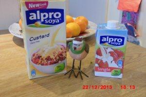 Dairy free custard and cream