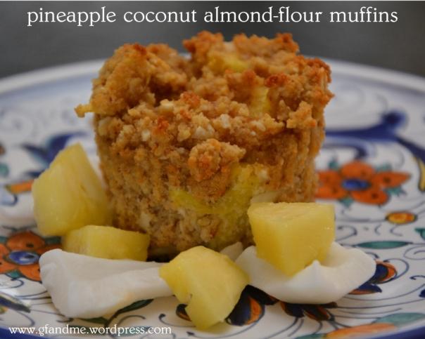 gluten free pineapple coconut muffins